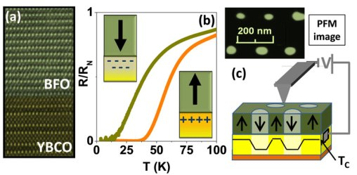 oxide heterostructures, ferroelectric, superconductor/ferroelectric. fied effects, modulation of superconductivity, high-resolution TEM, PFM, AFM